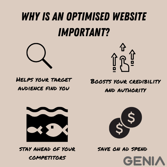 Reasons for an optimised website